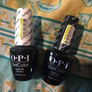 Alpine Snow and Black Onyx Bundle OPI Gel  💅